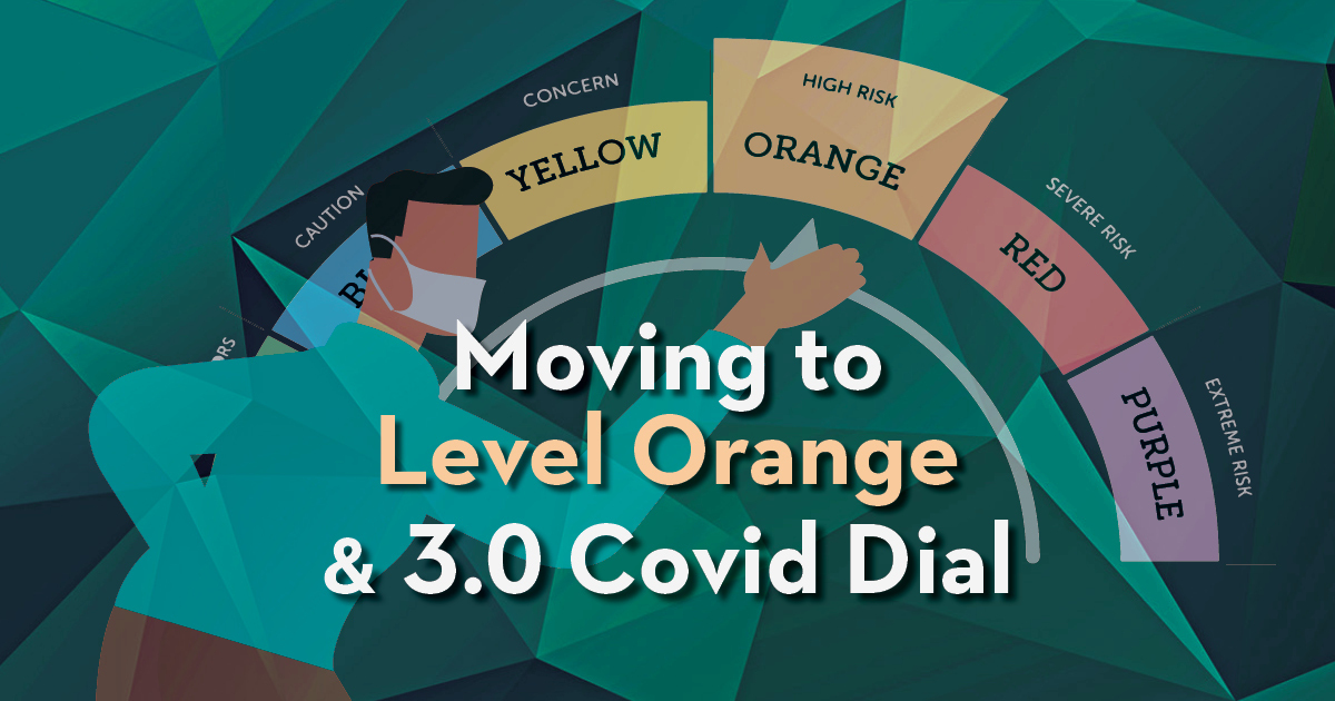Moving to level orange and covid dial 3.0