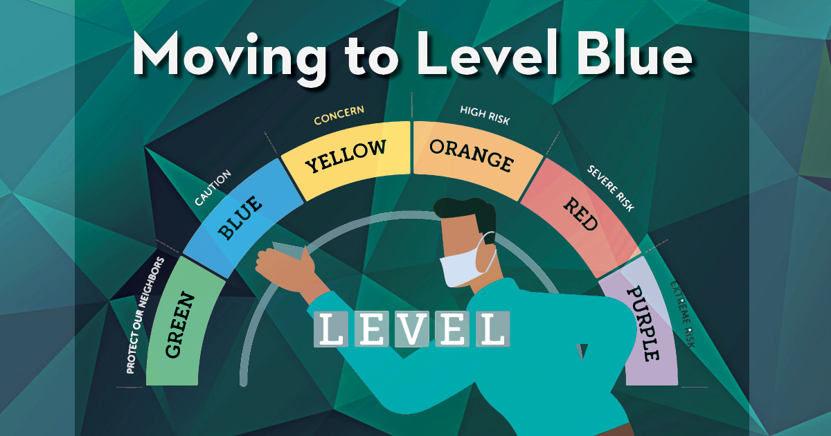 Move to level blue