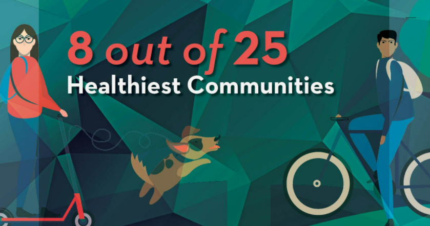 8 out of 25 healthiest communities